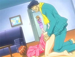 Boss's wife catches him fucking his hot anime secretary